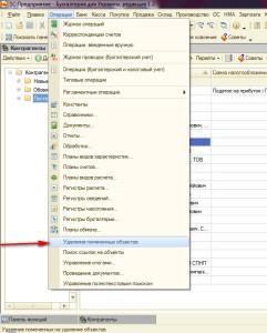 Удаление данных 2 241x300 Как в 1С Предприятии 8.2 удалить ошибочно введенные данные?
